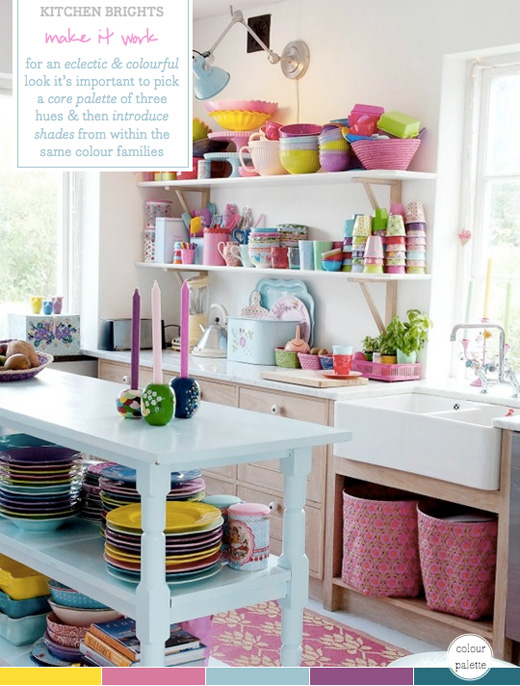 Colour Palette: Multi-coloured Kitchen Brights – Bright.