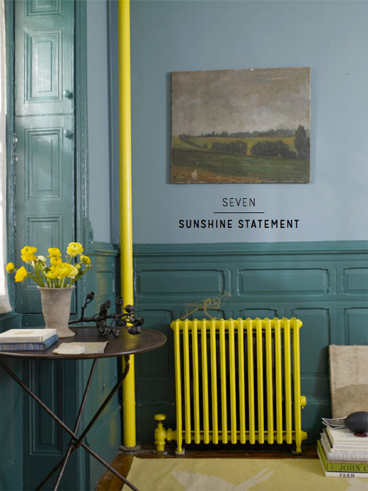 yellow-painted-radiator