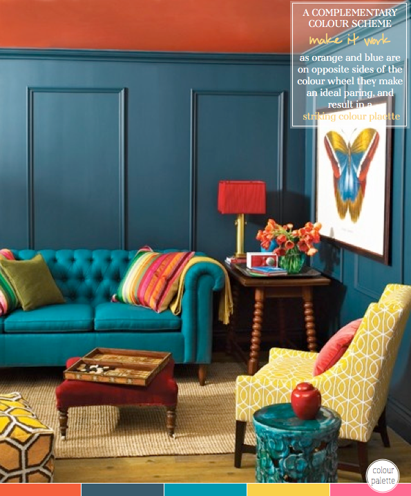 How To Decorate With A Complementary Colour Palette - Bright Bazaar ...