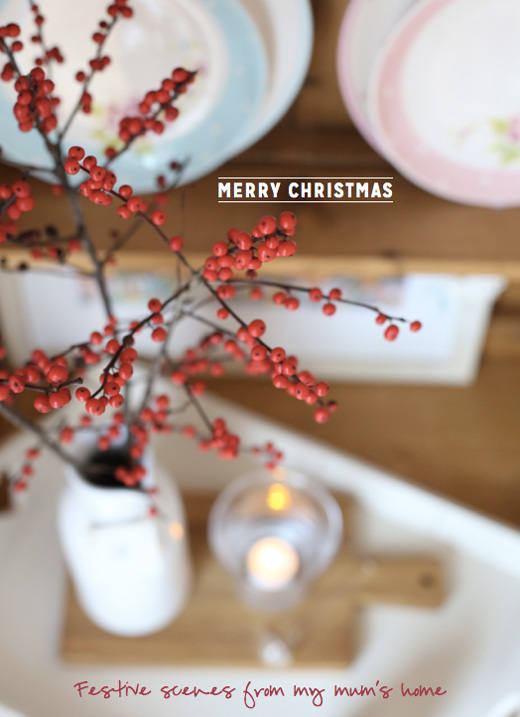 red-winter-berries-in-a-white-vase