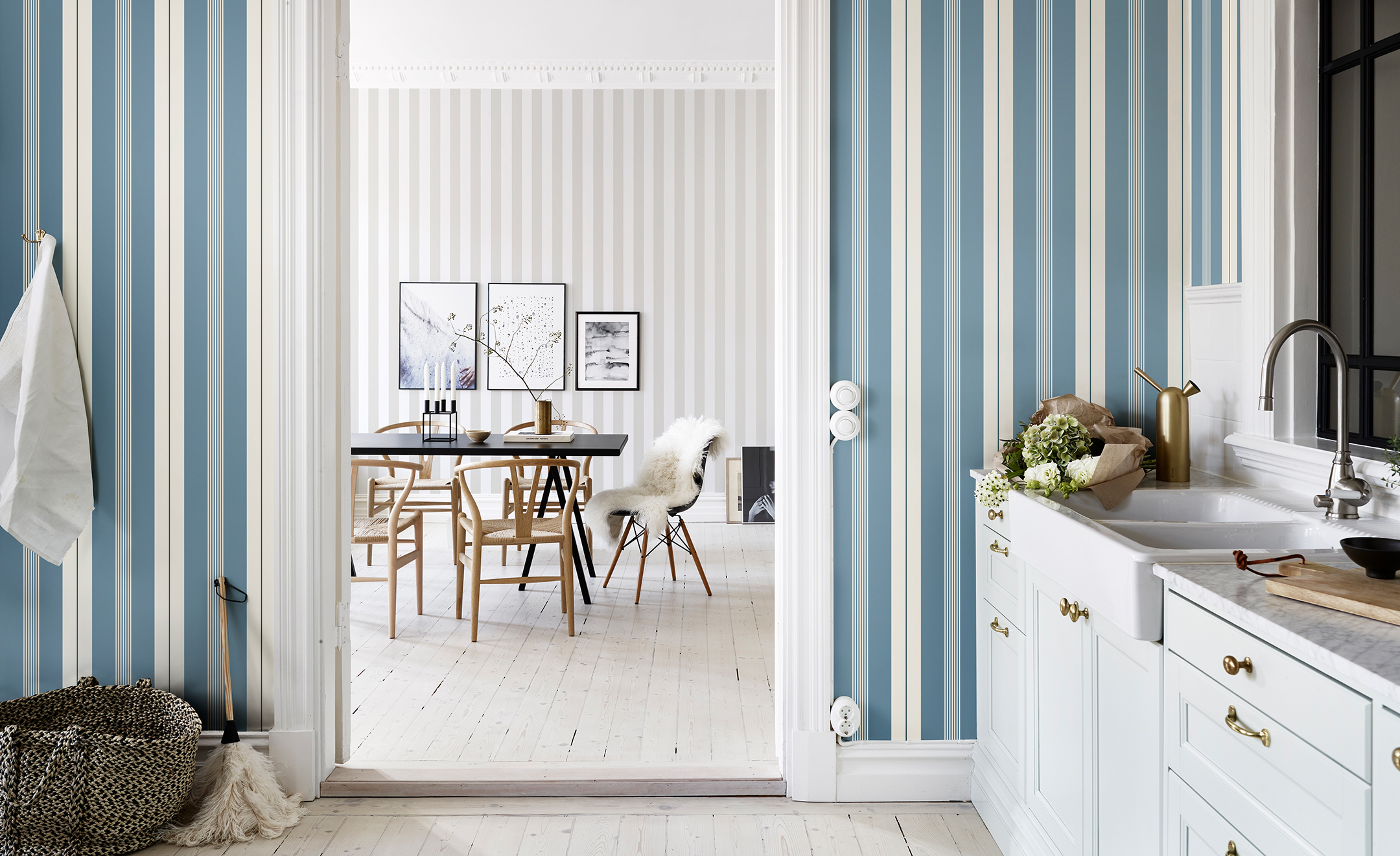 10 Striped Wallpaper Design Ideas - Bright Bazaar by Will Taylor
