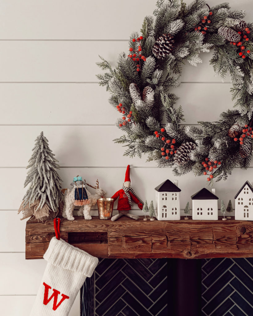 a beach house decorated for the holidays
